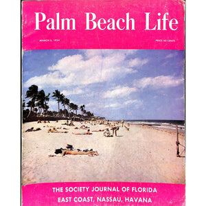 Palm Beach Life Magazine March 5, 1954