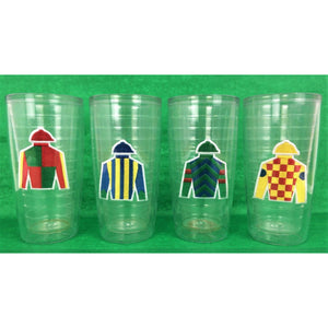 Set of 4 Jockey Tumbler Glasses