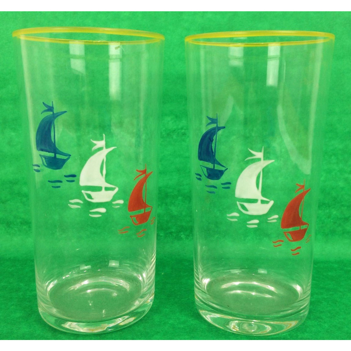 Pair of Sailboat Highball Glasses