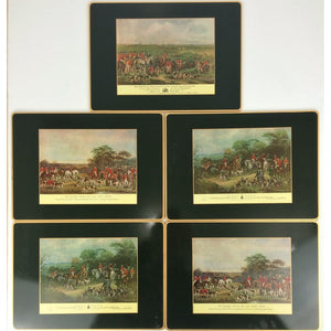 Set of 5 Scully & Scully Foxhunt Place Mats
