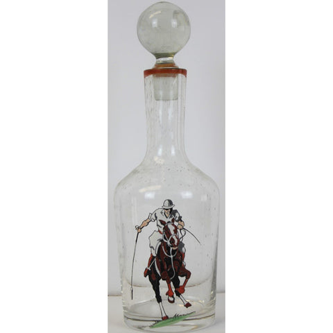 Polo Player Glass Decanter