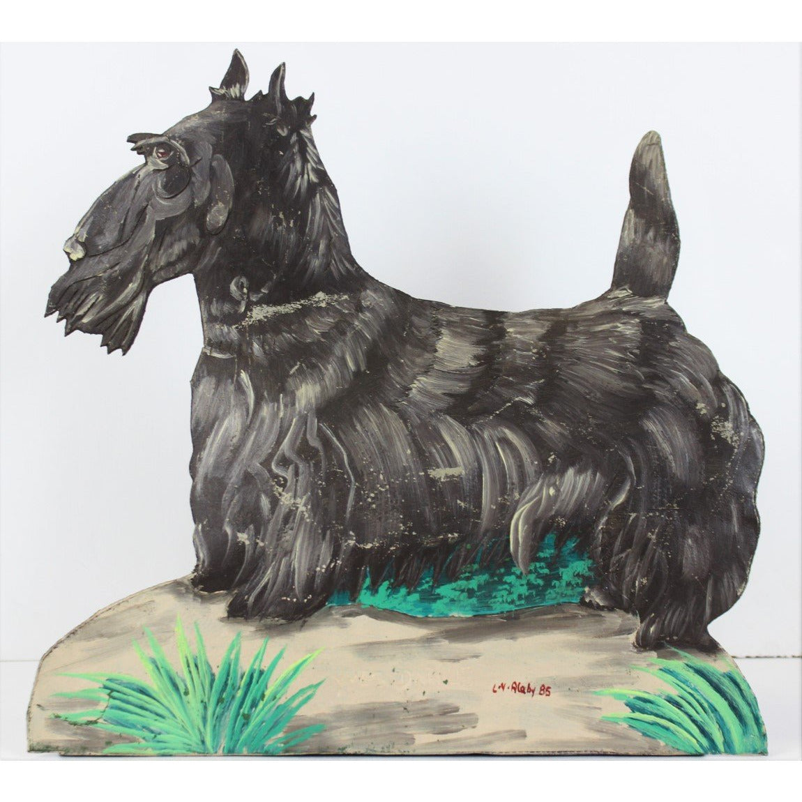 Hand-Painted Scottie Tin Doorstop