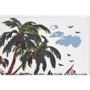 Pair of English Tropical Tiles