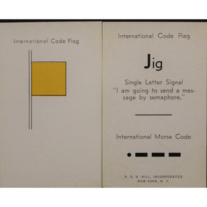Hill Memorizer International Code Flags and Intl Morse Code 40 Cards