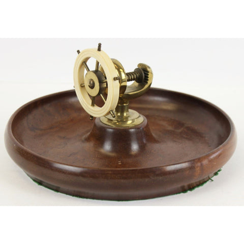 Bakelite Ship's Wheel Vise on Birdseye Maple Bowl