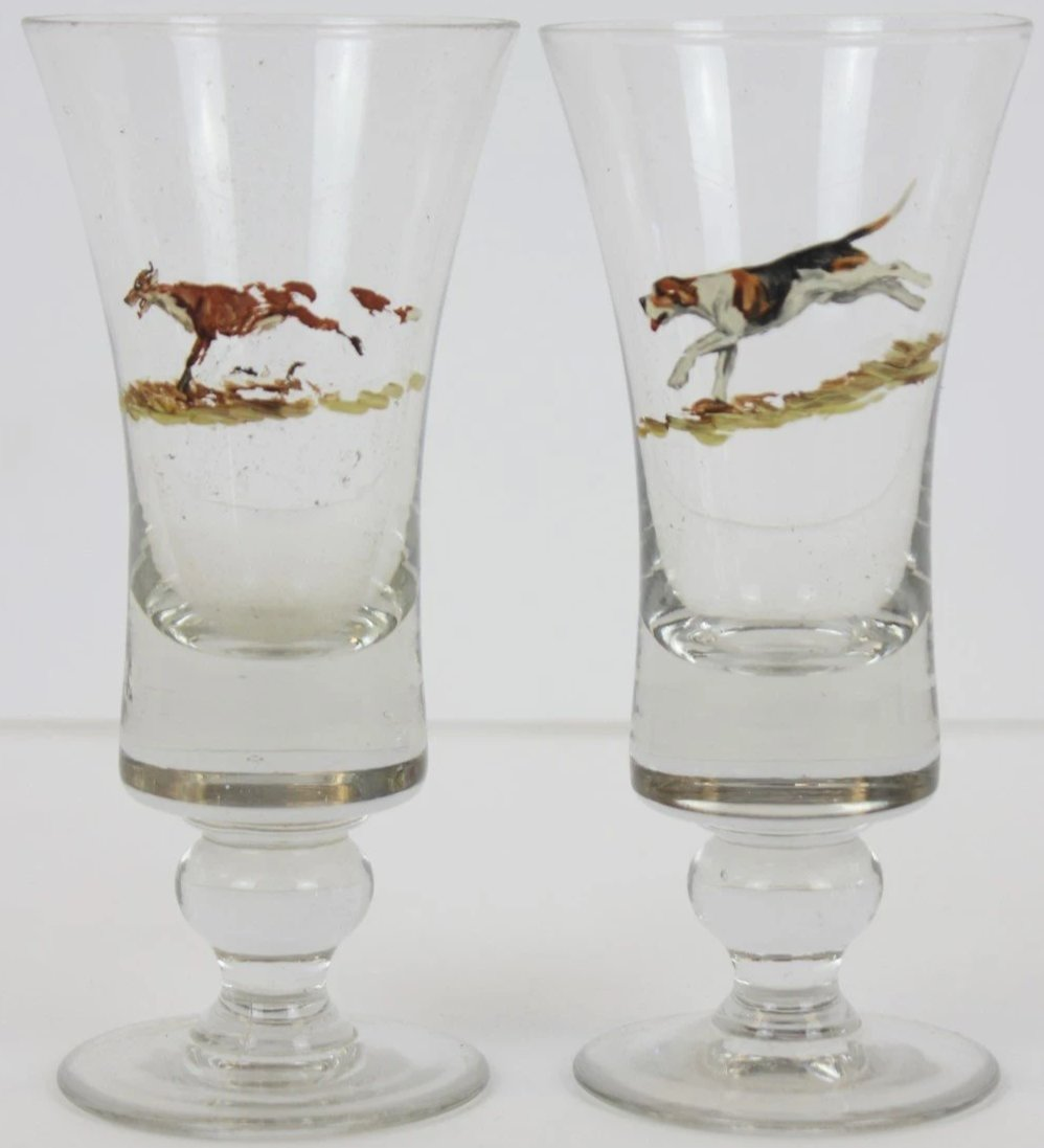 Fox & Hound Cordial Glasses