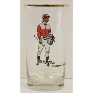 Set of 3 Robert Riger Jockey Highball Glasses