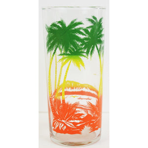Set of 4 Palm Tree Highball Glasses