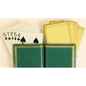 Twin Deck of US Internal Revenue Stamp Playing Cards in Green Leather Casing