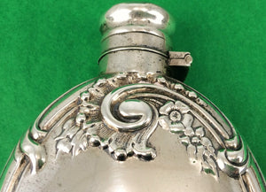 Ornate Sterling 1891 Flask