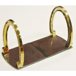 Pair of Brass Horseshoe Bookends