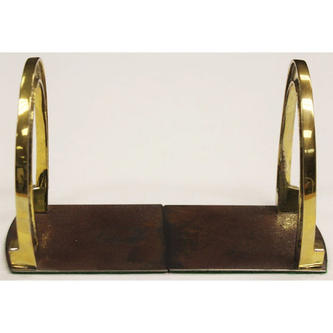 "Pair of Brass Horseshoe Bookends"" Sz: 4 5/8""H"