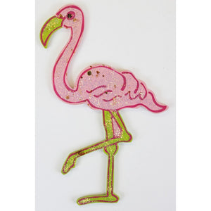 Wood Pink Flamingo 'Sparkles' Ornament""
