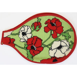 Needlepoint Floral Tennis Racquet Cover