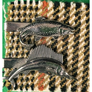 'Set of Trout & Sailfish c.1950's Tie Clasps'