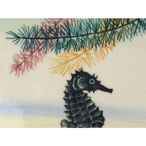 Seahorse Twin Tile Cocktail Tray