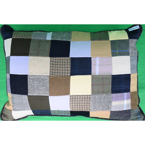Custom Patchwork Cashmere Tweed Pillow from The Andover Shop