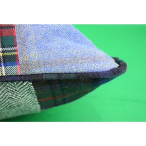 Custom Tartan Patchwork Pillow Assembled by The Andover Shop
