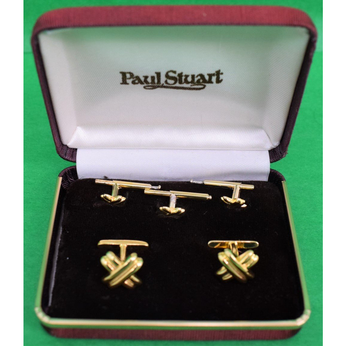 Classic Paul Stuart Sterling Vermeil Stud Box Set