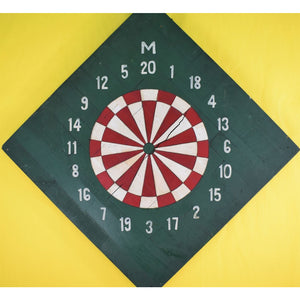 Rare Vintage Toohey Troy American Dual-Sided Dart Board