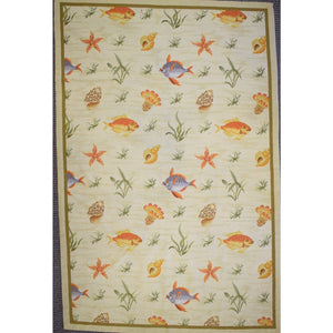 Tropical Fish Petit Point Area Rug