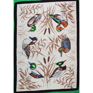 Custom Six Ducks Needlepoint Area Rug