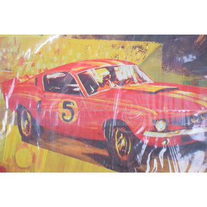 Vintage Hallmark For Men Race Cars Gift Wrap