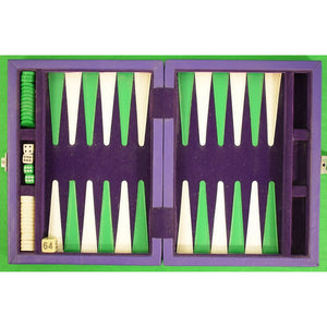 Purple Leather Backgammon Board