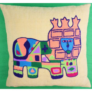 'Regal Lion Abstract c.1960's Pillow'