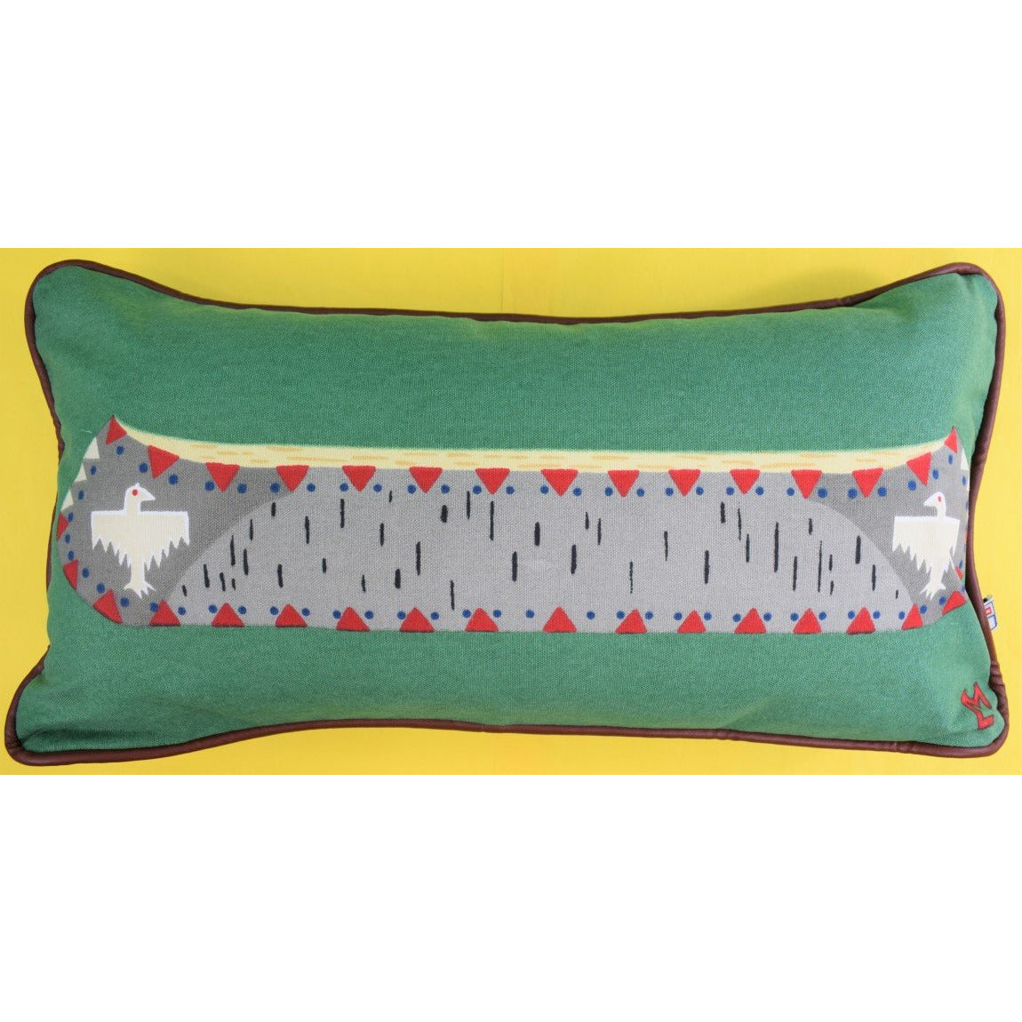 Birch Canoe Canvas Pillow