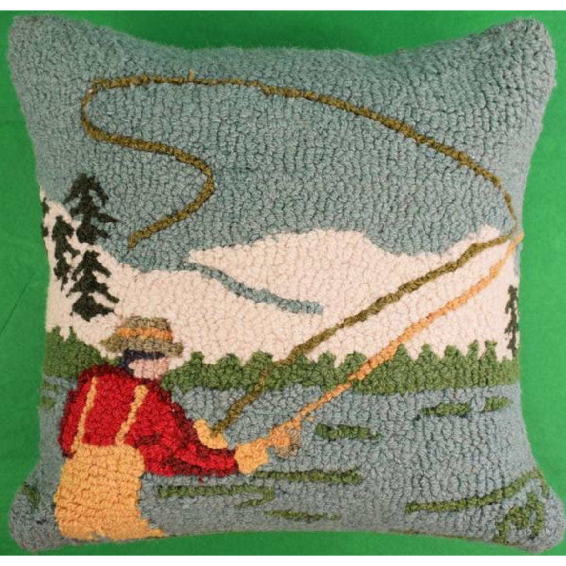 'Fly Fisherman Hook Pillow'
