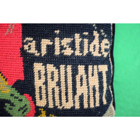 Pair of Aristide Bruant Toulouse-Lautrec Needlepoint Pillows
