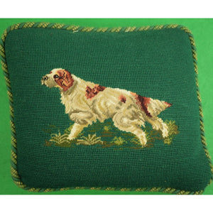 Spaniel Needlepoint Pillow