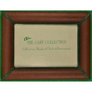 Leather Picture Frame w/ Green Trim