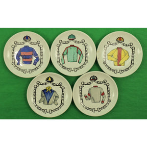 Set of 5 Jockey Ceramic Coasters by Galbiati Milano