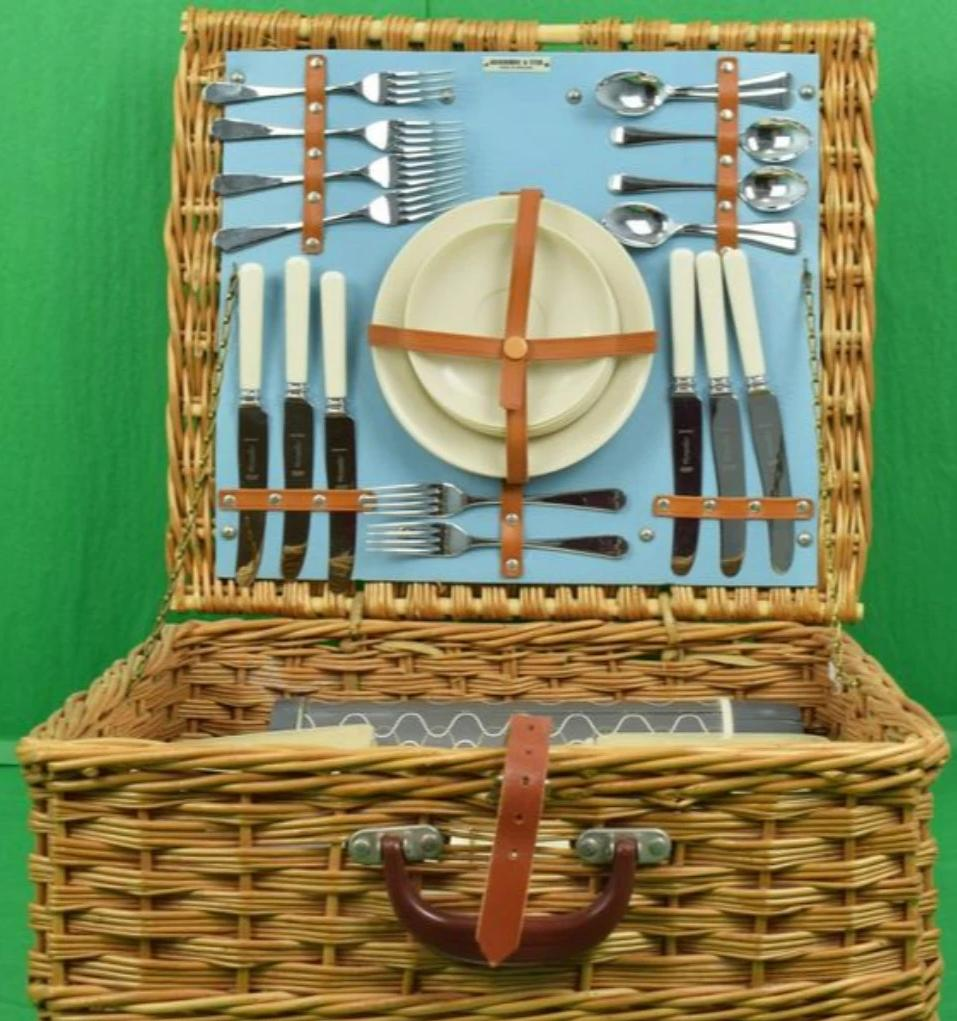 'Abercrombie & Fitch English Wicker Picnic Hamper'