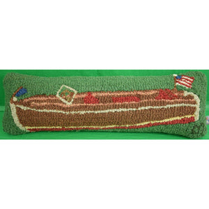Chris Craft Runner Stitched Pillow