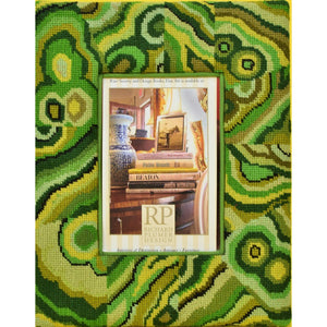 Needlepoint Paisley Picture Frame