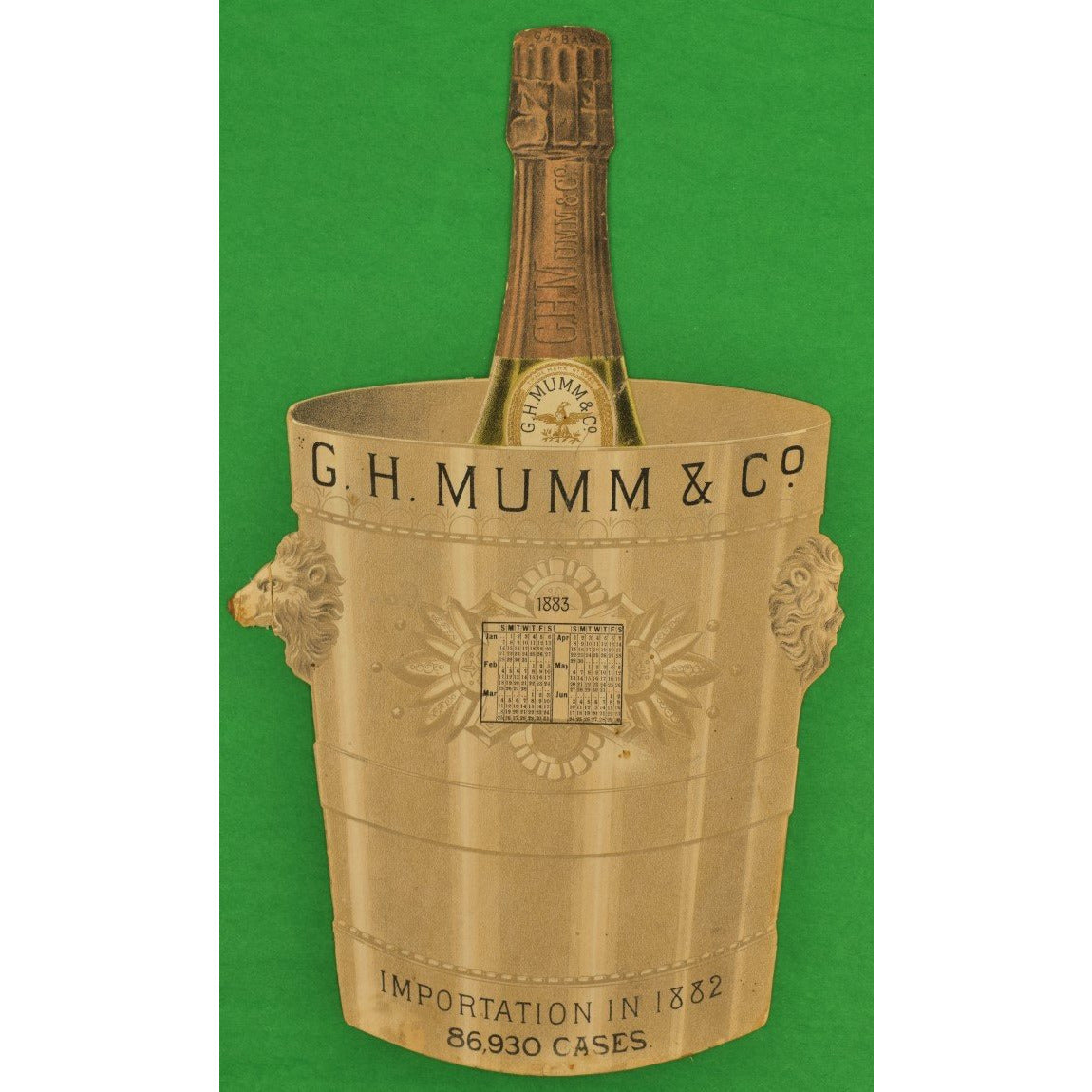 G.H. Mumm & Co. Calendar Advert Card as Champagne Bucket