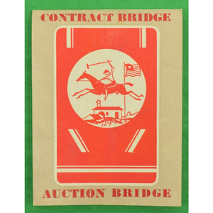 Twin Deck of Polo Player Contract Bridge Cards