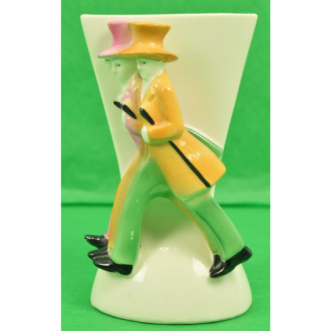 German Ceramic Dapper Gents Bud Vase