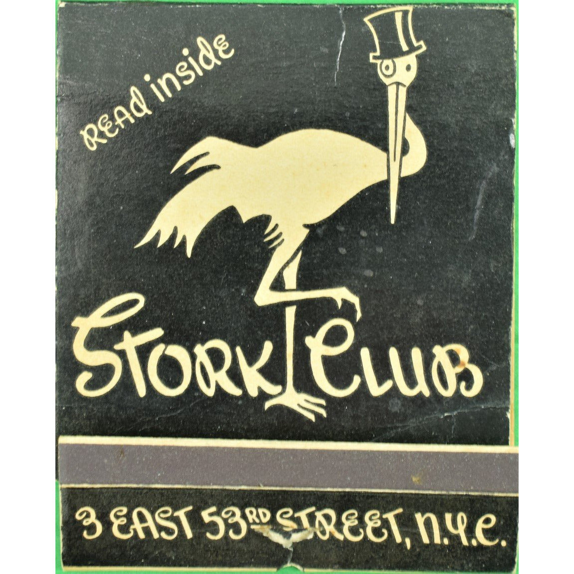 The Stork Club Oversize 10 Matchbook