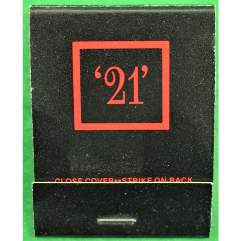 """21"" Club Matchbook & 6 Cocktail Napkins"