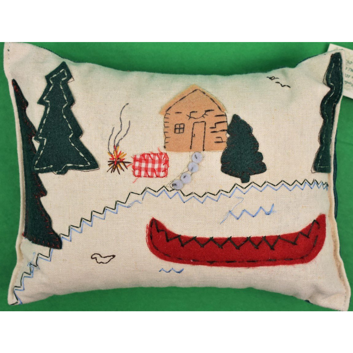 Balsam-Filled Patchwork Camp Pillow