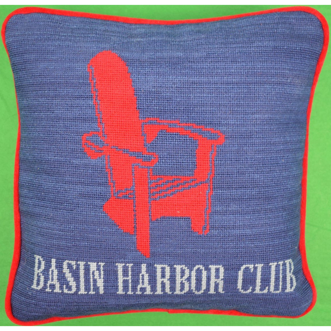 Basin Harbor Club Adirondack Chair Needlepoint Pillow