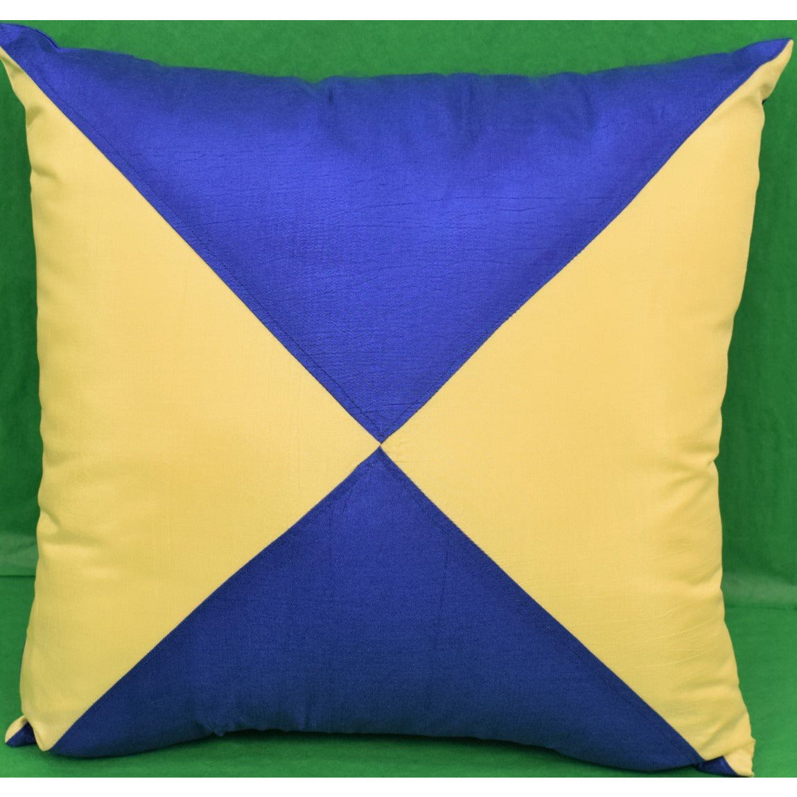 Yellow & Blue 'Diamond Racing Silks' Pillow