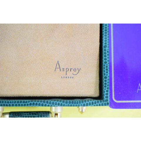 Asprey Twin Sealed Decks of Playing Cards in Snakeskin Box