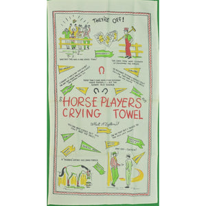 Horse Players Crying Towel