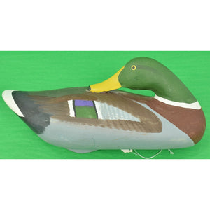 Capt. Harry Jobes c1986 Drake Mallard Decoy