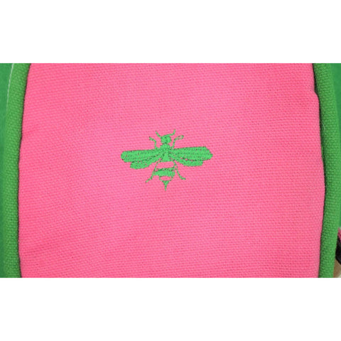 Wasp 'Bumblebee' 1960's Pink & Lime Green Tennis Racquet Cover
